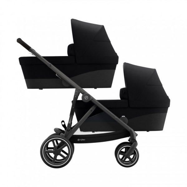 Cybex Gazelle S Tweeling Kinderwagen Black - Deep Black